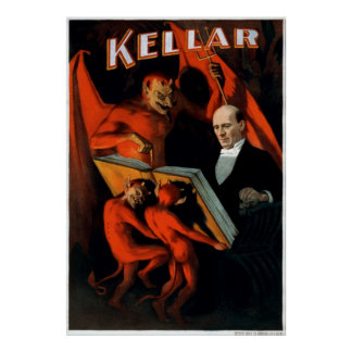 Kellar and his servants poster