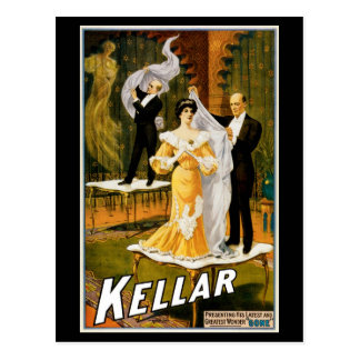 "Kellar ~ ""Gone"" Postcard"