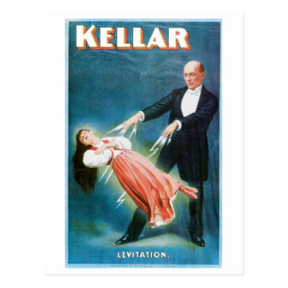 Kellar ~ Levitation Magician Vintage Magic Act Postcard
