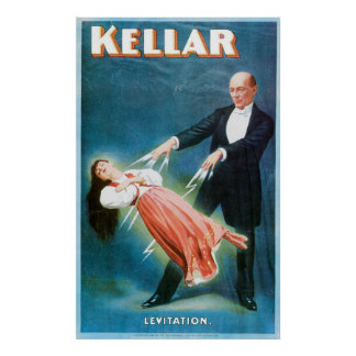 Kellar ~ Levitation Magician Vintage Magic Act Poster