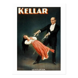 Kellar the Magician Levitation - Vintage Ad Postcard