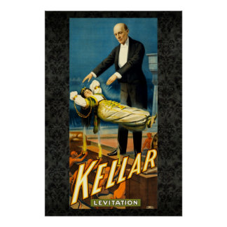 Kellar the Magician Reissue Vintage 36 x 24 Poster