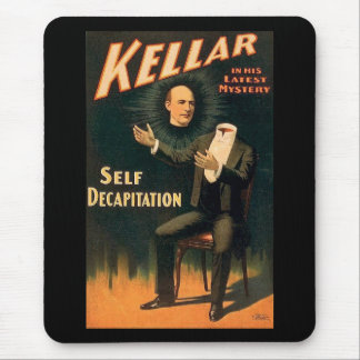 Kellar the Magician - Self Decapitation - Vintage Mouse Pad