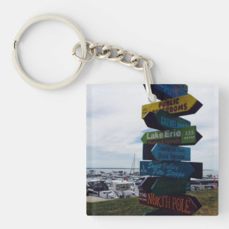 Kelley's Island, Ohio Sign Photo Key Chain