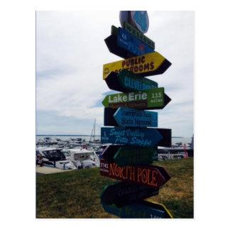 Kelley's Island, Ohio Sign Photo Postcard