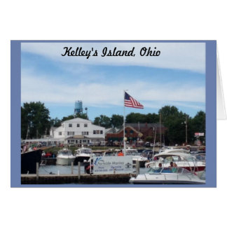 Kelley's Island Portside Marina Ohio Greeting Card