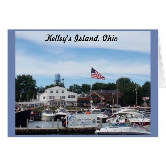 Kelley's Island Portside Marina Ohio Greeting Card