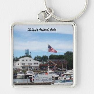 Kelley's Island Portside Marina Ohio Keychain