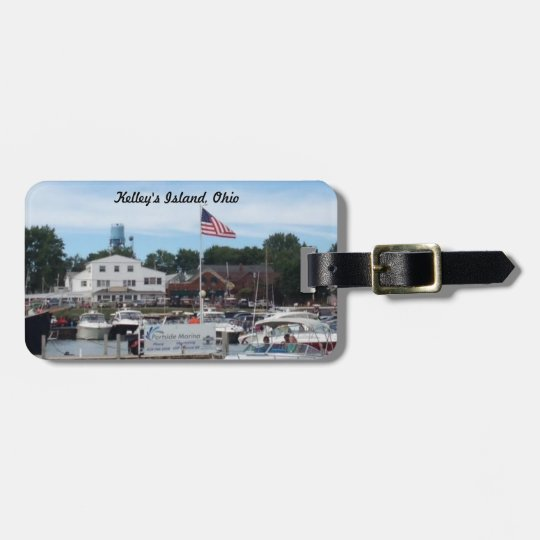 Kelley's Island Portside Marina Ohio Luggage Tag