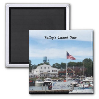 Kelley's Island Portside Marina Ohio Magnet