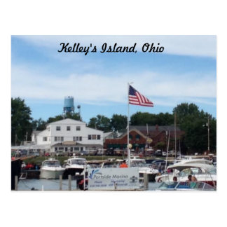 Kelley's Island Portside Marina Ohio Postcard