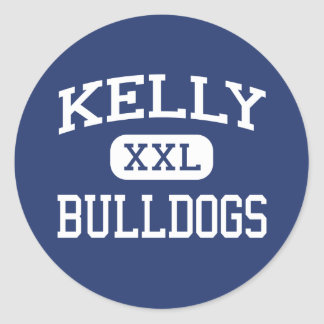 Kelly - Bulldogs - Catholic - Beaumont Texas Classic Round Sticker