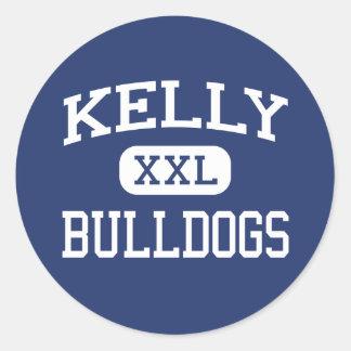 Kelly - Bulldogs - Catholic - Beaumont Texas Round Sticker