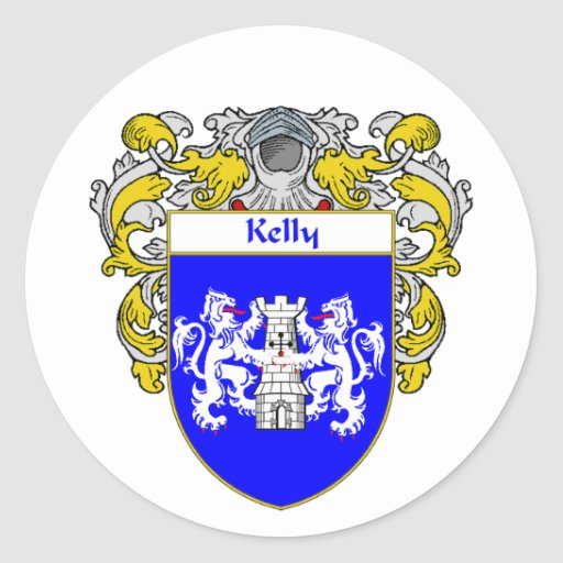 Kelly Coat of Arms (Mantled) Round Sticker
