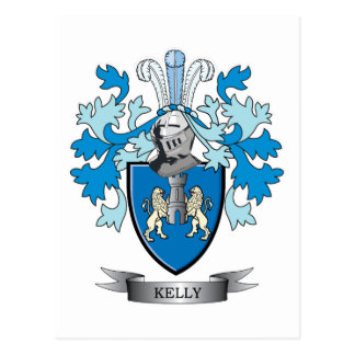 Kelly-Coat-of-Arms Postcard