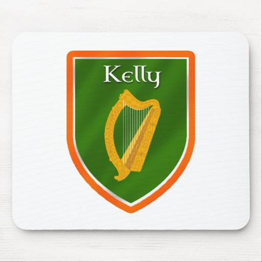 Kelly family crest kelly family name mouse mat