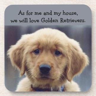 Kelly Golden Retriever Puppy Coasters