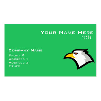 Kelly Green Bald Eagle Business Cards