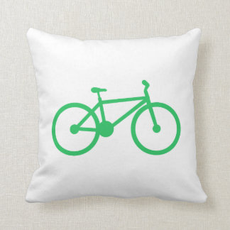 Kelly Green Bicycle Throw Pillow