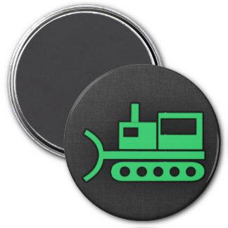 Kelly Green Bulldozer Magnets