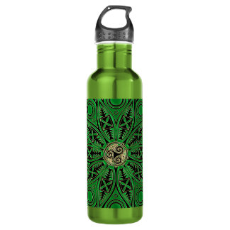 Kelly Green Celtic Mandala With Triskele