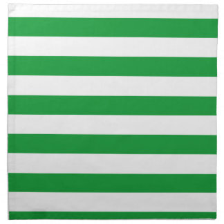 Kelly Green Horizontal Stripes; Striped Napkin