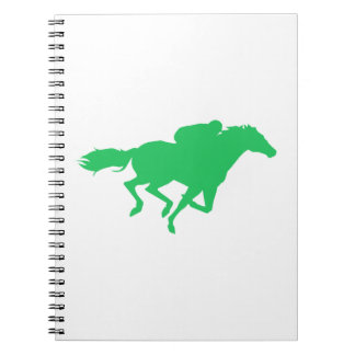 Kelly Green Horse Racing Spiral Notebooks