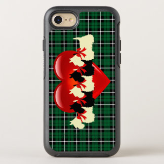 Kelly green Irish green Scottish Terrier, heart OtterBox Symmetry iPhone 8/7 Case