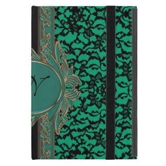 Kelly Green Irish Lace Custom Monogram iPad Mini Cover