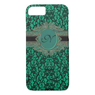 Kelly Green Irish Lace Custom Monogram iPhone 8/7 Case