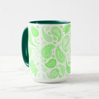 Kelly Green Paisley Coffee Mug by Julie Everhart