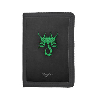 Kelly Green Scorpio Tri-fold Wallets