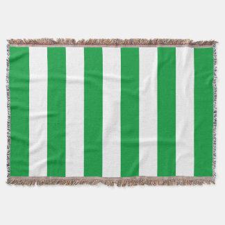 Kelly Green Stripes Pattern Throw Blanket