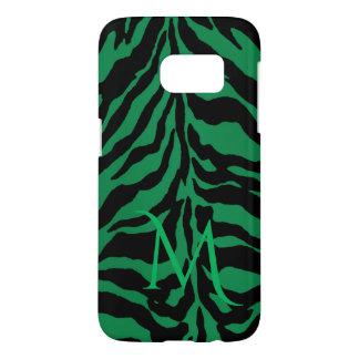 Kelly Green Tiger Monogram Samsung Galaxy S7 Case