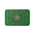 Kelly Green Triskele Mandala Bath Mat