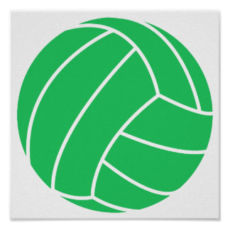Kelly Green Volleyball Print
