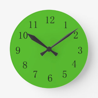 Kelly Green Wall Clock