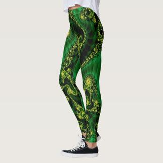 Kelly green & yellow, leggins leggings