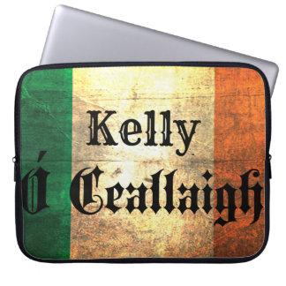 Kelly Irish Surname Flag Laptop Sleee Laptop Sleeve
