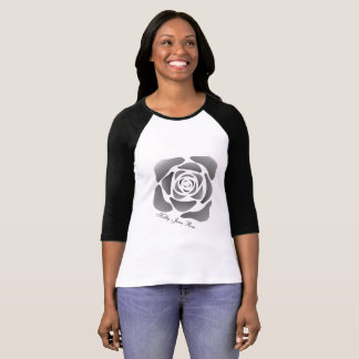 Kelly Jean Rose Ladies Black Trim 3/4 Sleeve T-Shirt