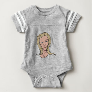 Kellyanne Conway Color Caricature Baby Bodysuit