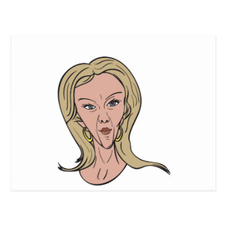 Kellyanne Conway Color Caricature Postcard