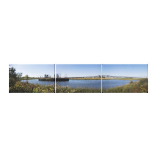 Kelly's Cove and the Pulaski Skyway Triptych Canvas Print