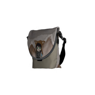 Kelo in the Snow Messenger Bags