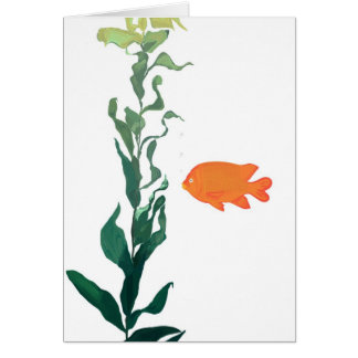 Kelp and fish note card
