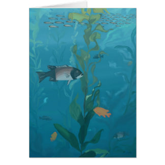 Kelp forest note card