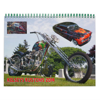 Kelsey's Kustoms 2014 Wall Calendars