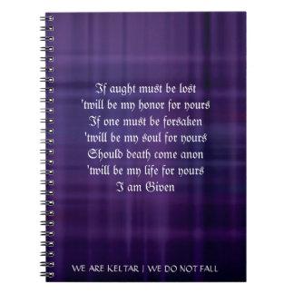 KELTAR Druid Binding Vows Spiral Notebook