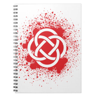 KELTIC-BLOOD SPIRAL NOTEBOOK