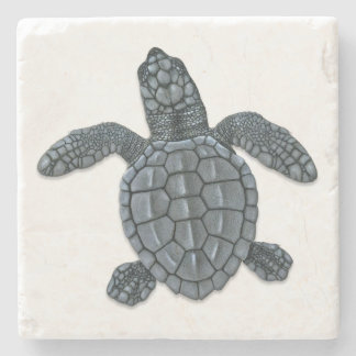 Kemp's Ridley Sea Turtle Hatchling Stone Coaster